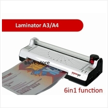 6-in-1 SOONYE Laminator Paper Photo A4 A3 Cutter Corner Laminate