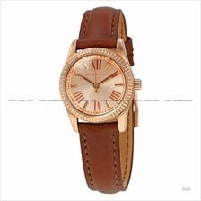 MICHAEL KORS MK2540 Petite Lexington Classic Leather Strap Rose Brown