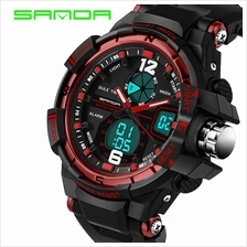 SANDA 289 Waterproof Multifunctional Sports Men Digital Watch (Red)