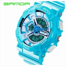 SANDA799 GStyle Military Waterproof Sports Men Digital Watch -LakeBlue