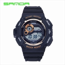 SANDA 302 Waterproof Outdoor Sports Men's Digital Watch (Gold)