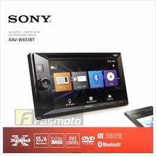 "Sony XAV-W651BT 6.2"" Double DIN NFC Bluetooth DVD USB Aux Car Stereo"