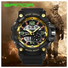 SANDA 759 G Style Military Sports Men's Shockproof Digital W-BlackGold