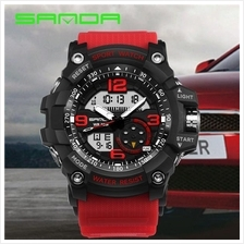 SANDA 759 G Style Military Sports Men's Shockproof Digital W-Black Red