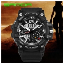 SANDA 759 G Style Military Sports Men's Shockproof Digital W-FullBlack