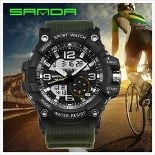 SANDA 759 GStyle Military Sports Men's Shockproof Digital W-BlackGreen