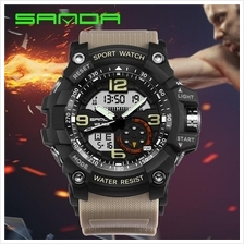 SANDA 759 GStyle Military Sports Men's Shockproof Digital W-Black Grey