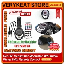 Car FM Transmitter Modulator MP3 Audio Player With Remote Control