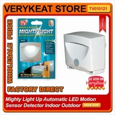 Mighty Light Up Automatic LED Motion Sensor Detector Indoor Outdoor