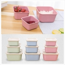 Eco Friendly Wheat Straw Tupperware (3pcs)