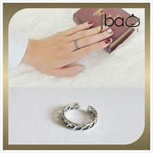 Retro Weave Open Ring 925 Sterling Silver Rings Birthday Valentine Gift