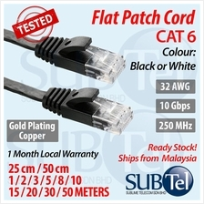 CAT6 Flat Patch Cord LAN Ethernet 1M 2M 3M 5M Cable Gigabit