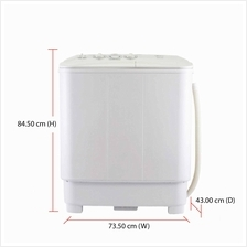 Midea Washing Machine MSW-6008P (6.0kg) Semi Auto