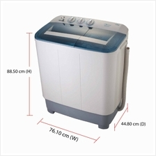 Midea Washing Machine MSW-8008P (8.0kg) Semi Auto