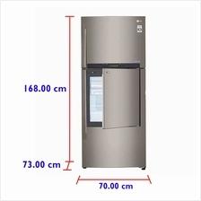LG Fridge GC-D432HLAM (426 L) Inverter  & Door-in-Door