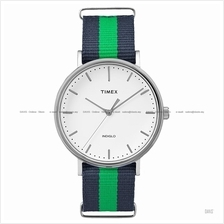 TIMEX TW2P90800 (M) Weekender Fairfield Slip-Thru nylon blue green