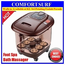 Portable Auto Foot Spa Bath Massager Taiji Style Bubble Heat LED Displ