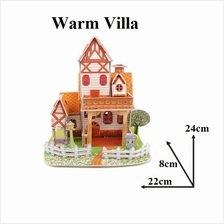 Educational 3D Puzzle DIY Toys Game Gift kids - Warm Villa