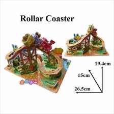 Educational 3D Puzzle DIY Toys Game Gift kids -Roller Coaster