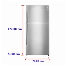 LG Fridge GN-B602HLCL (515 L) Inverter  & Platinum Silver Top