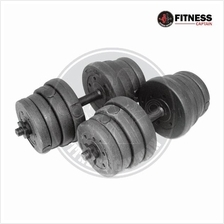 Fitness Gym 30kg Bumper Plate Dumbbell And Barbell Combo Set
