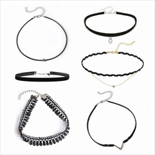 YOUNIQ-Basic Korean 6 in 1 Set Original Mix & Match OOTD Black Choker