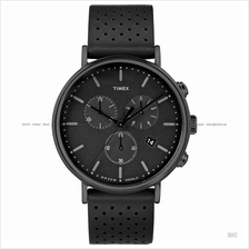 TIMEX TW2R26800 (M) The Fairfield Chronograph leather strap black