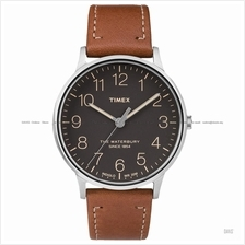 TIMEX TW2P95800 (M) The Waterbury classic leather strap black brown