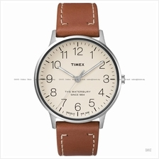 TIMEX TW2R25600 (M) The Waterbury classic leather strap cream tan