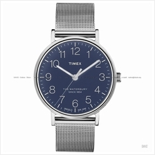 TIMEX TW2R25900 (M) The Waterbury classic meshed SS bracelet blue