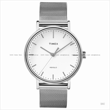 TIMEX TW2R26600 (M) The Fairfield classic meshed SS bracelet white