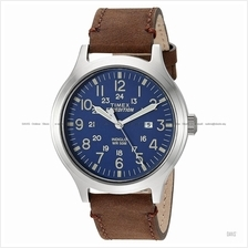 TIMEX TW4B06400 (M) Expedition Scout date leather strap blue brown
