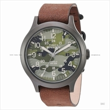 TIMEX TW4B06600 (M) Expedition Scout date slip-thru leather camo brown