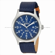 TIMEX TW4B07000 (M) Expedition Scout date mixed nylon leather blue