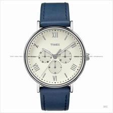 TIMEX TW2R29200 (M) Southview multifunction leather strap white blue