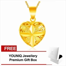 YOUNIQ Premium Open Heart Love 24K Gold Plated Pendant