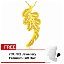 YOUNIQ Premium Leaves 24K Gold Plated Pendant