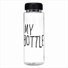 Korean Trendy Fashion Clear Transparent MY BOTTLE Water Bottle (500ml)