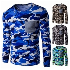 Men's Colorful Camouflage Pattern Long-sleeve Slim Fit Shirt