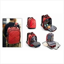 Men Bag Terminus Urban Dad 2.0 Backpack (Red) Daddy Mummy Baby Diaper