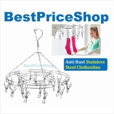 Anti Rust Stainless Steel Clothes Drying Hanger Clothesline Hanging