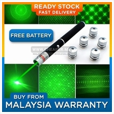 Laser Green Pointer Pen Star Cap High Power 2in1 6in1 5mw Powerful