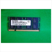 ELPIDA 2GB 800MHz PC2-6400S-666 12 Laptop Notebook RAM Memory SO-DIMM