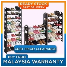DIY Simple 2 4 6 8 10 Tier Stainless Steel Shoe Rack Multipurpose