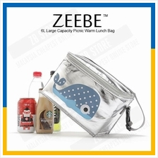 ZEEBE 6L Large Insulated Thermal Lunch Box Warm Cooler Food Bag CB205