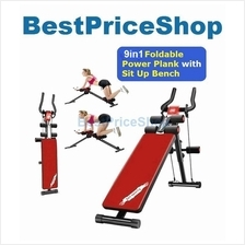 New 9in1 Foldable Power Plank with Sit Up Bench Six 6 Packs Exercise