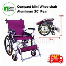 [Neolee] Compact Mini Lightweight Wheelchair 20' Rear (Aluminum)