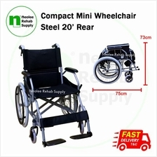 [Neolee] Compact Mini Wheelchair 20' Rear (Steel)