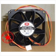 Ori SUPERRED 9CM CPU Case cooling Fan 12V .1.3A CHD9212EB-AH 4 wire