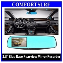 3.5 inch Blue Base Car Cam DVR RearView Mirror Camera Video Recorder